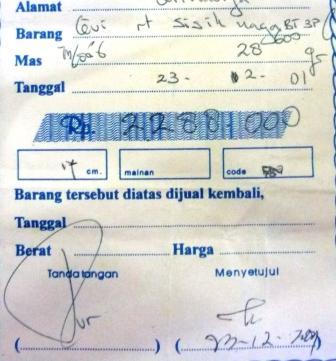 Belajar Dari Sebuah Nota Lama Goldindonesias Blog
